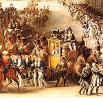 فرنسا تعرض العربات الذهبية لملوك فرنسا للجمهور