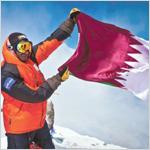 محمد آل ثاني يتسلق أعلى قمة في أوروبا