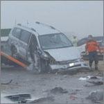 591 حادثاً مرورياً بسبب الضباب في أبوظبي خلال يومين