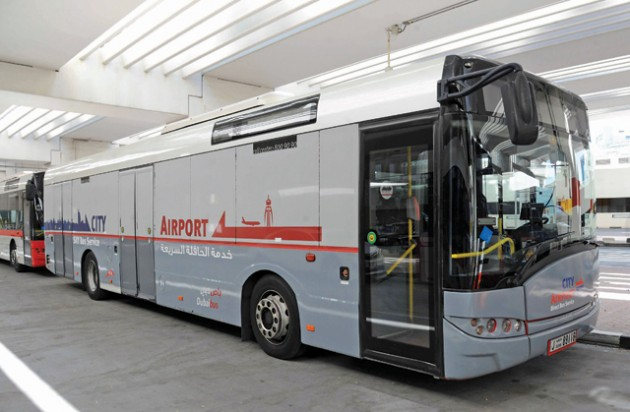 حافلة مجانية لنقل المسافرين من جبل علي والمحيصنة إلى مطار دبي