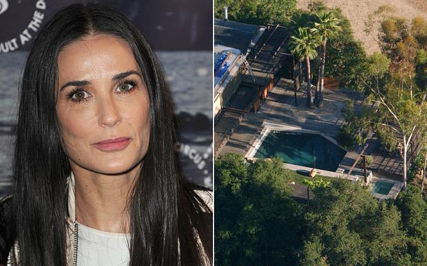 العثور على جثة في حمام السباحة بمنزل الممثلة ديمي مور