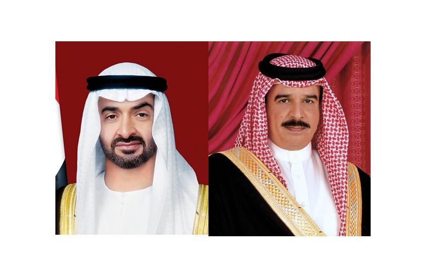 محمد بن زايد وملك البحرين يؤديان صلاتي الجمعة والغائب
