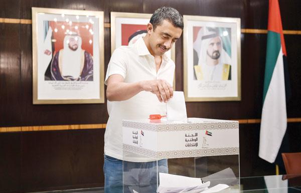 عبدالله بن زايد: انتخابات «الوطني» إحدى خطوات التمكين التي وعد بها رئيس الدولة