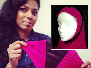 بطلة ملاكمة مسلمة تصمم حجاباً رياضياً