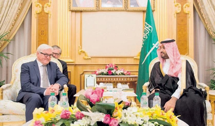 ولي ولي العهد السعودي يبحث التعاون مع وزير الخارجية الألماني