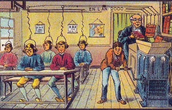 رسومات تكشف تخيل الناس في 1900 للحياة عام 2000