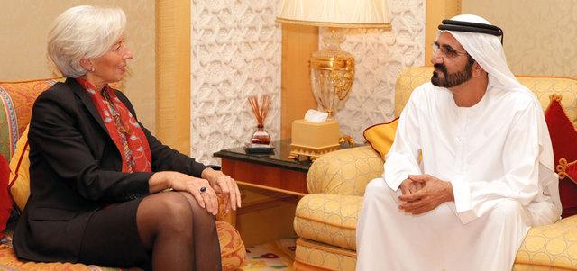 محمد بن راشد يبحث دور «النقد الدولي» في دعم برامج التنمية الاقتصادية