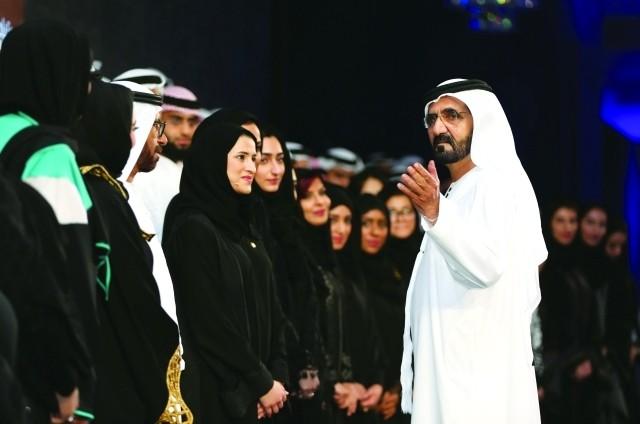 محمد بن راشد: فخورون بعطاء المرأة الإماراتية