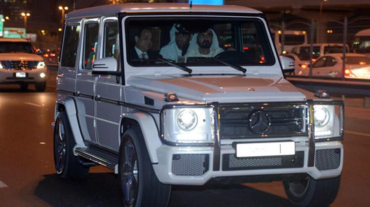 محمد بن راشد يصطحب الرئيس المصري في جولة بدبي