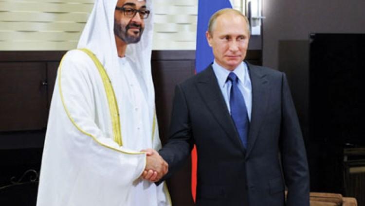 محمد بن زايد يبدأ اليوم زيارة عمل لروسيا ويلتقي بوتين