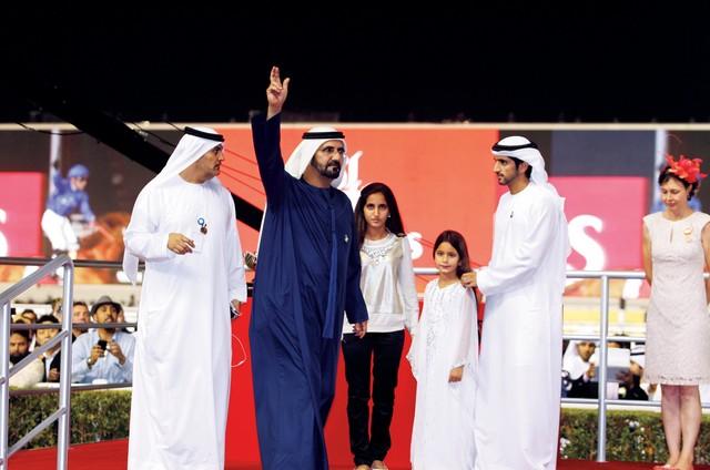 محمد بن راشد يحضر حفل استقبال بمناسبة بطولة كأس دبي العالمي للخيل