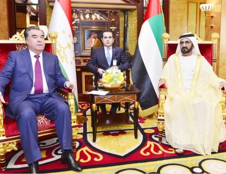 محمد بن راشد ورئيس طاجيكستان يبحثان تعزيز التعاون بين البلدين