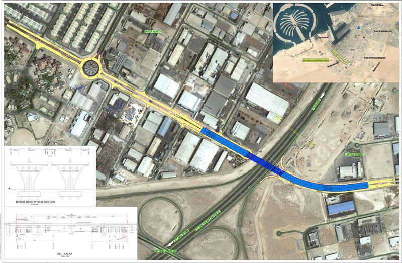 """""""طرق دبي"""" ترسي عقد مشروع جسر """"جافزا"""" على شارع الشيخ زايد"""