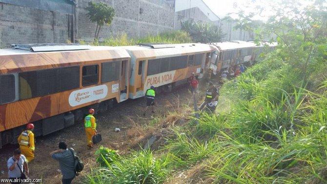 اصطدام قطارين في كوستاريكا يؤدي لإصابة 80 شخصا