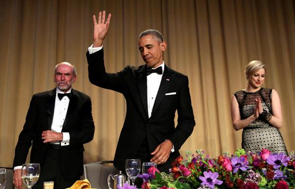 سقطات أوباما خلال العشاء الأخير