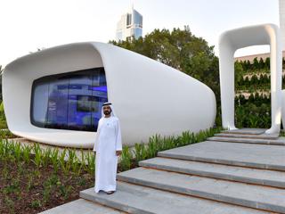 محمد بن راشد يفتتح أول مبنى مطبوع بتكنولوجيا الطباعة ثلاثية الأبعاد في العالم