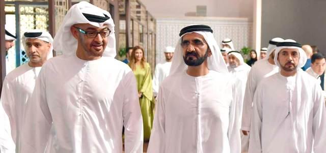 محمد بن راشد ومحمد بن زايد يلتقيان في أبوظبي