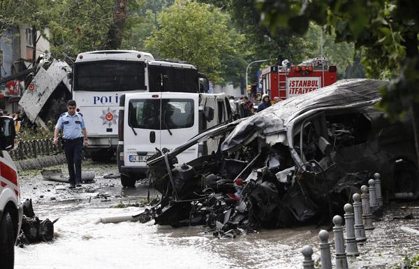 قتلى وجرحى في انفجار بمحطة حافلات باسطنبول