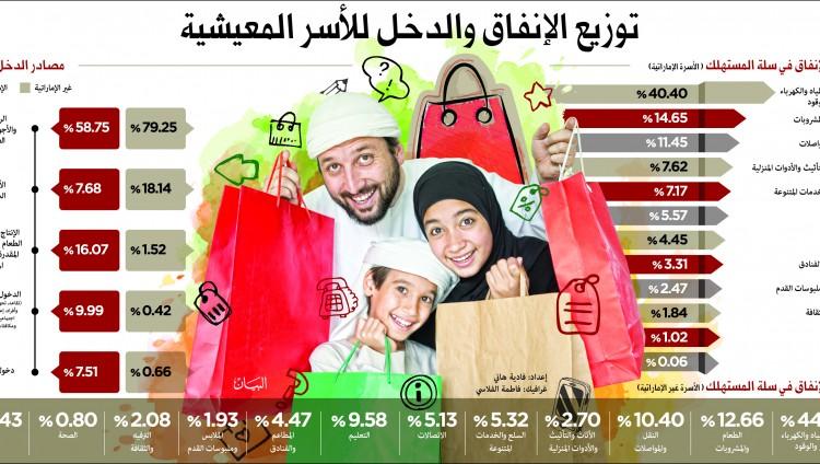 431 ألف درهم متوسط إنفاق الأسرة المواطنة سنوياً