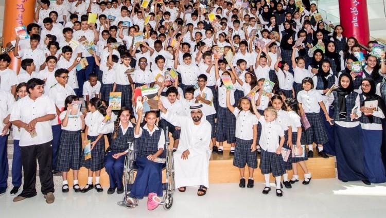 """محمد بن راشد: وصلنا في حملة """"أمة تقرأ"""" إلى 8 ملايين كتاب"""
