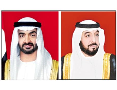 خليفة ومحمد بن زايد يتلقيان رسالة خطية من أمير الكويت