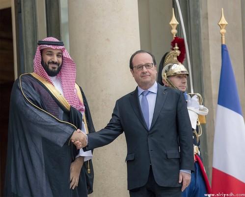الرئيس الفرنسي يستقبل ولي ولي العهد في قصر الإليزيه