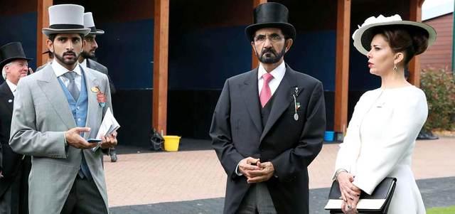 محمد بن راشد يشهد سباق الديربي الإنجليزي للخيول