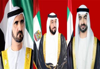 خليفة ومحمد بن راشد ومحمد بن زايد يهنئون رئيسي الصومال ورواندا وحاكم عام كندا