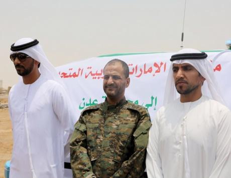 الإمارات تقدم 11 سيارة دعماً لإدارة أمن عدن