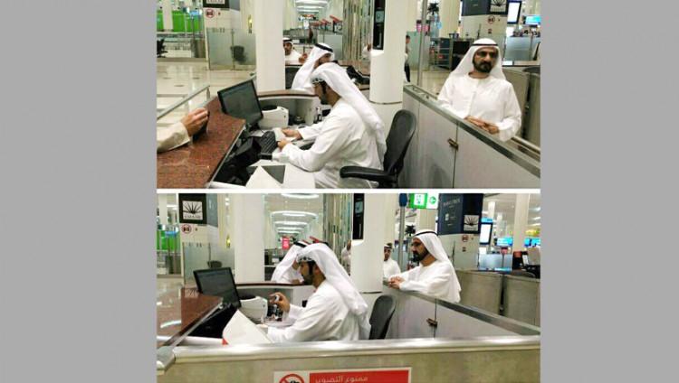 """""""إقامة دبي"""": مأمور الجوازات في اللقطات المتداولة عبر """"التواصل الإجتماعي"""" كان مشغولا بإنجاز مهامه الوظيفية"""