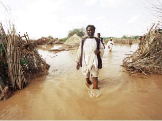 «الهلال الأحمر» تنفذ برنامجاً إغاثياً للمتأثرين من السيول في السودان