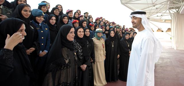 محمد بن زايد: فخورون ببنــــات الإمارات وبإنجازاتهن