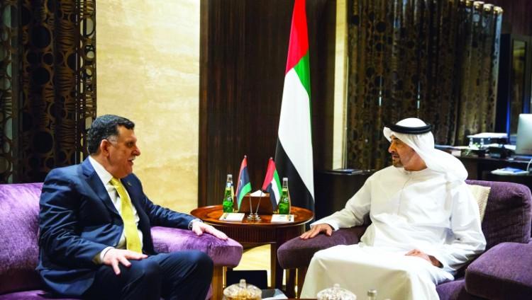 محمد بن زايد: الإمارات تتطلع إلى استقرار ليبيا ودورها كدولة فاعلة في محيطها