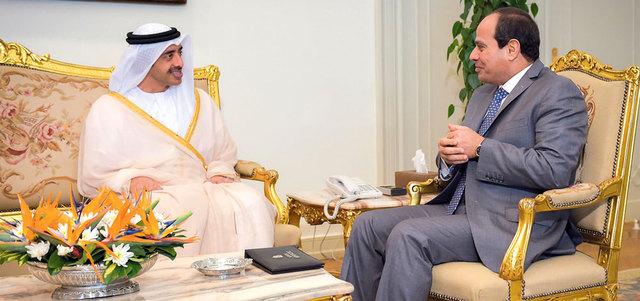 السيسي وعبدالله بن زايد يؤكدان أهمية إحلال السلام ومكافحة الإرهاب