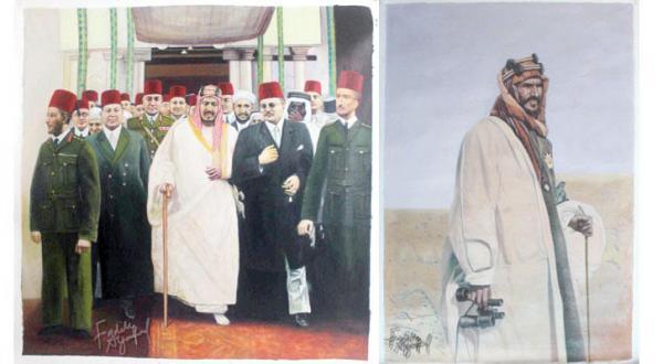 معرض تشكيلي لأبرز المحطات في حياة مؤسس السعودية