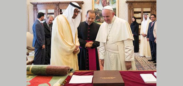 نهيان بن مبارك : زيارة محمد بن زايد للفاتيكان حدث تاريخي