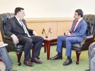 الإمارات تجدد دعمها المجلس الرئاسي الليبي