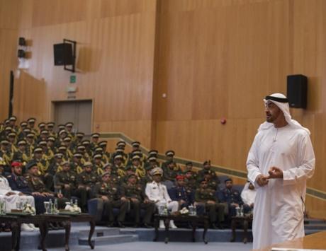ولي عهد أبوظبي: قواتنا المسلحة تؤدي في اليمن دوراً بطولياً