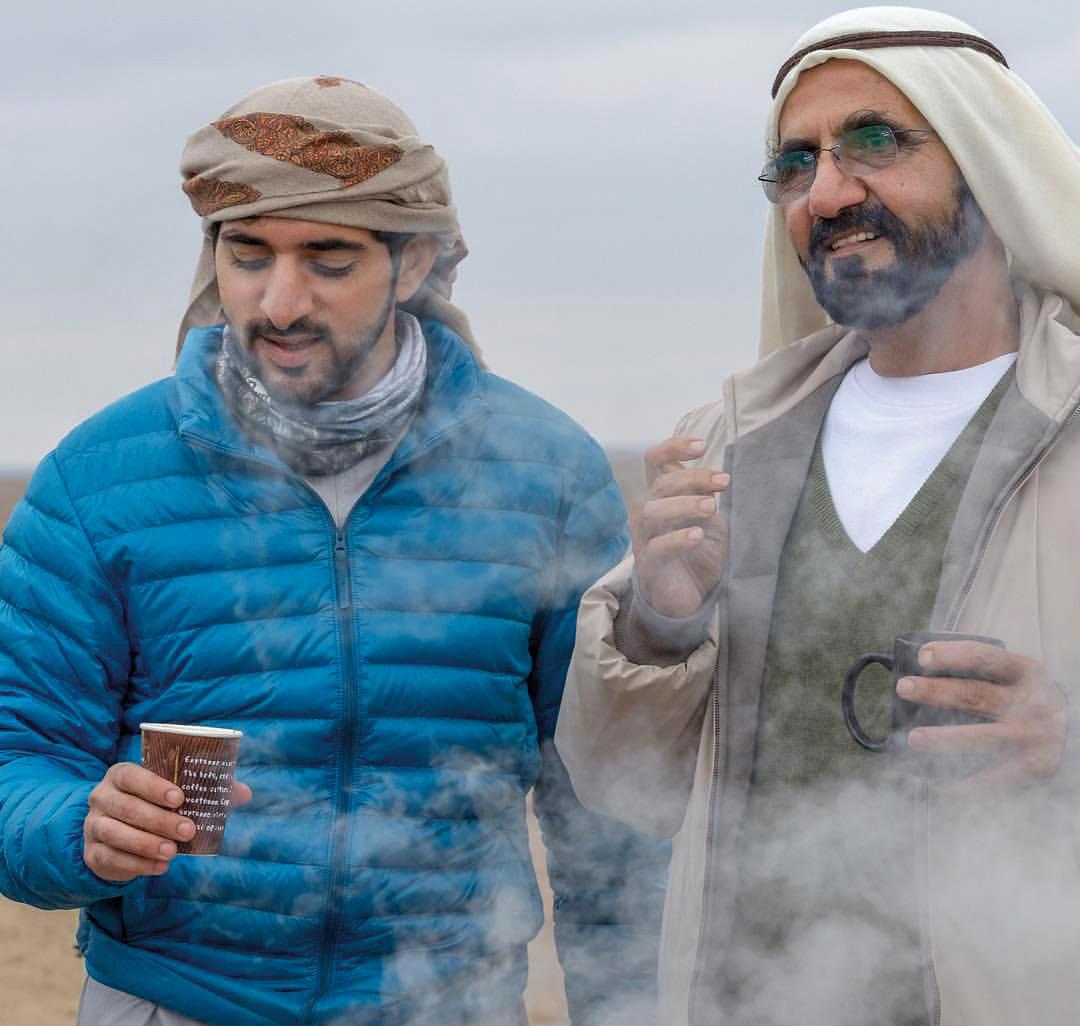 حمدان بن محمد يوثق لحظة استراحة على إنستغرام