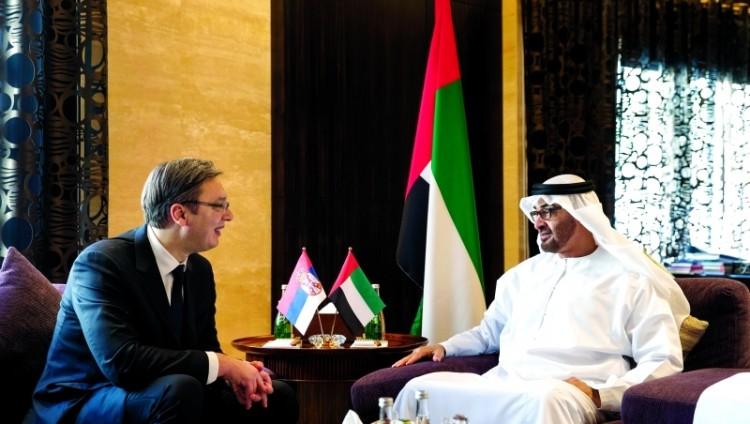محمد بن زايد يبحث تعزيز العلاقات مع رئيس وزراء صربيا والرئيس الشيشاني