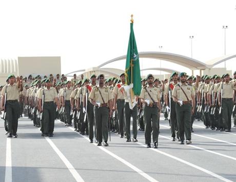 القوات المسلحة تحتفل بتخريج الدفعة السادسة من منتسبي الخدمة الوطنية