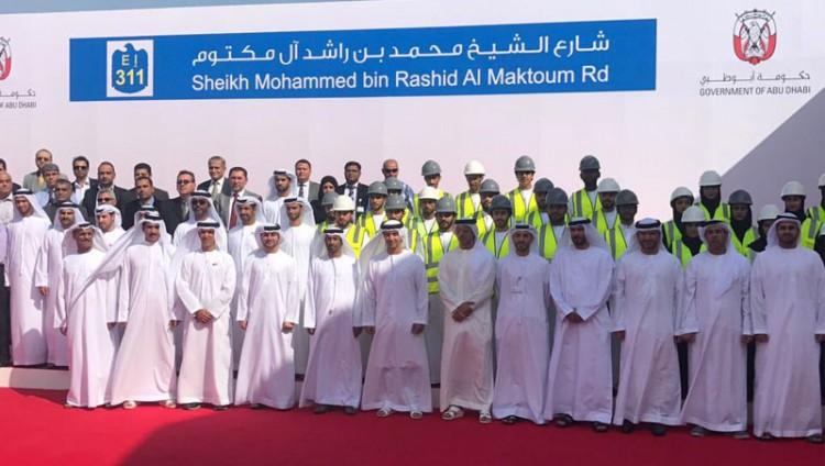 """تدشين شارع """"الشيخ محمد بن راشد """" بطول 62 كيلومتراً"""