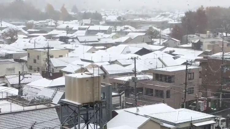 طوكيو تشهد الثلوج للمرة الأولى منذ 54 عاماً في نوفمبر