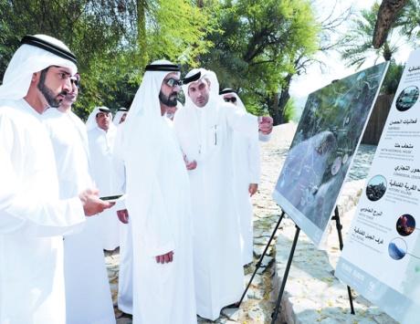 محمد بن راشد يطلق خطة تطوير «حتا» بـ 1.3 مليار
