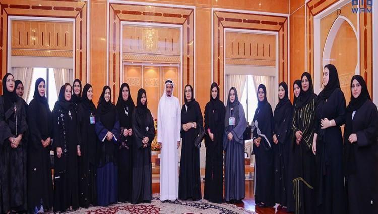 حاكم عجمان يستقبل صاحبات الاعمال الخليجيات