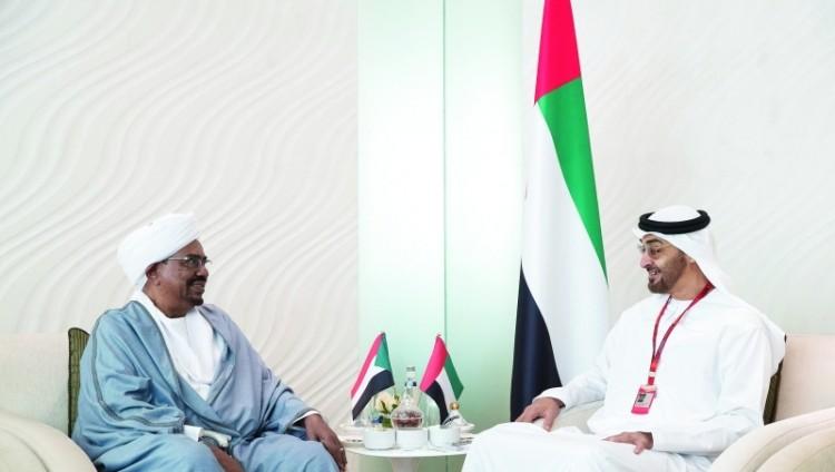 محمد بن زايد يبحث مع الرئيس السوداني ورئيس إقليم كردستان تعزيز العلاقات