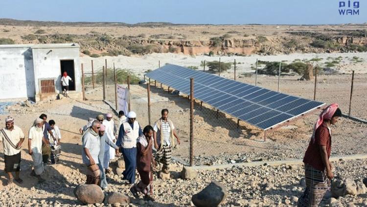 الهلال الأحمر الإماراتي تفتتح مشروع توريد مياه بالطاقة الشمسية بحضرموت