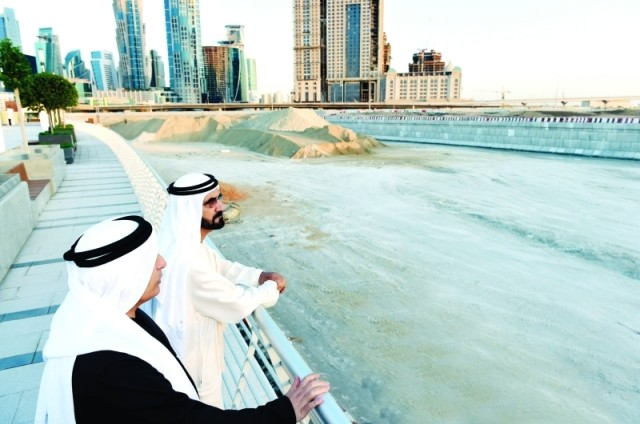 محمد بن راشد يفتتح قناة دبي المائية اليوم