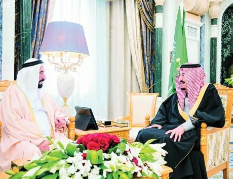 خادم الحرمين يستقبل سلطان ويبحث معه العلاقات الأخوية بين البلدين