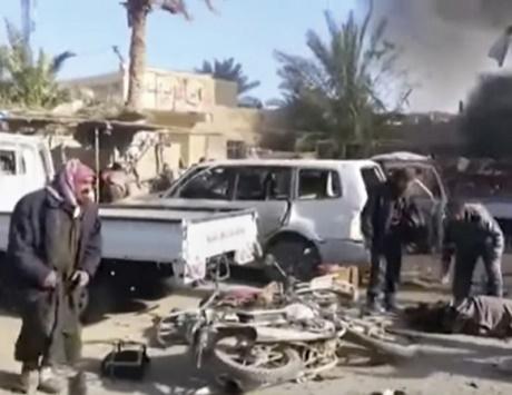 مجزرة في القائم يرتكبها سلاح الجو العراقي